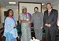 A delegation led by the Minister of Industry and Trade, Malawi, Ms. Eunice Kazembe meeting the Union Minister of Commerce and Industry, Shri Anand Sharma, in New Delhi on March 15, 2010.jpg