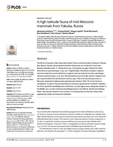 File:A high-latitude fauna of mid-Mesozoic mammals from Yakutia, Russia.pdf
