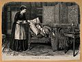A patient lies on a chaise-longue, while a nurse brings her Wellcome V0015159.jpg