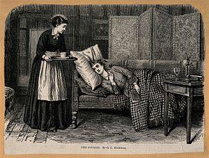 File a patient lies on a chaise longue while a nurse for Chaise longue wiki
