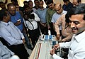 A political party delegation being explained about the internal circuitry of the Ballot Units of the EVM machines, in New Delhi on June 03, 2017.jpg
