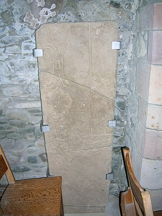 Millrind - Image: A rind on a miller's tomb, Stobo Kirk