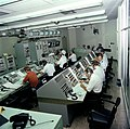 A view of civilian and Air Force personnel at work in the Launch Control Center (LCC) of the Vertical Integration Building (VIB) - DPLA - f2cedd1773272b2b0f436159f2951d9f.jpeg