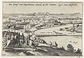 Aanval van de graaf van Pappenheim op het Staatse leger bij Maastricht, 1632 Des Graef van Papenheims aenval op der Staaten leger voor Mastricht (titel op object), RP-P-OB-81.338.jpg