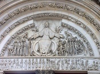 Tympan (externe) de l'abbatiale de Vézelay