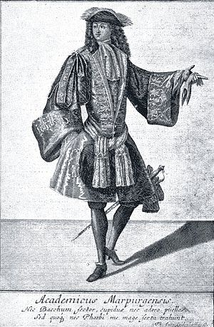 Academic fencing - Marburg student of about 1700
