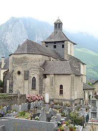Accous (Pyr-Atl, Fr), église vue du cimetière.JPG