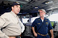 Actor Tom Selleck visiting the Bridge of the USS Ronald Reagan -- 040722-N-5621B-410.jpg