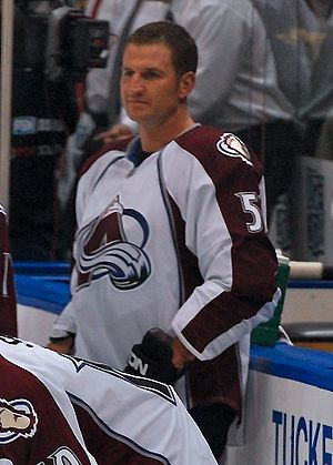Adam Foote - Foote in 2008 with the Colorado Avalanche