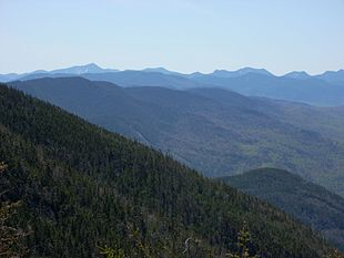 """The Adirondack Mountains from the top of <a href=""""http://search.lycos.com/web/?_z=0&q=%22Whiteface%20Mountain%22"""">Whiteface Mountain</a>"""