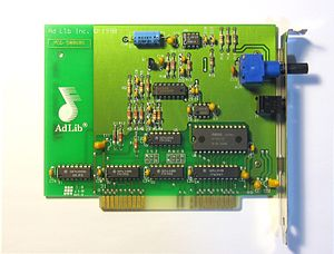 Ad Lib, Inc. - Image: Adlib sound card version 1.5