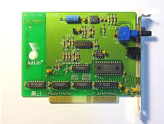Ad Lib, Inc. - Image: Adlib sound card version 1.5