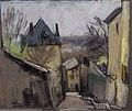 Adrien Bas - Montée des Épis (Lyon), pastel sur papier gris (1924).jpg