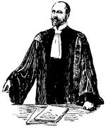 Un avocat français en train de plaider