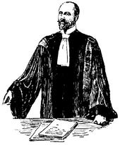 Avvocato francese del XIX secolo, illustrazione del Nordisk familjebok