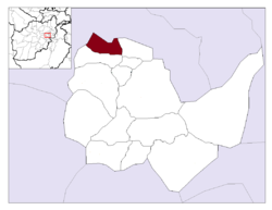 Location in Kabul Province