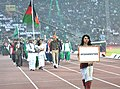 Afghanistan players taking part in the ceremonial march pass, on the occasion of the 12th South Asian Games-2016, at Indira Gandhi Athletics Stadium, in Guwahati, Assam on February 05, 2016.jpg