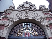 La porte Anietenkapel de l'université d'Amsterdam
