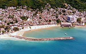 Aguadilla, Puerto Rico - Aerial view of downtown Aguadilla.