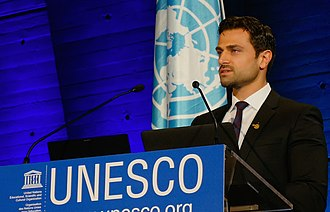 Ahmed Salim - Ahmed Salim at  the launch of the  International Year of Light 2015, at UNESCO headquarters in Paris on 19th January 2015