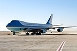 Air Force One Carrying President and First Lady Obama Arrives in Riyadh.jpg