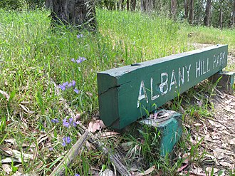Albany Hill - entrance to Albany Hill Park, north end of Taft Ave