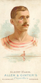 Albert Hamm, Oarsman Card, Allen and Ginters Tobacco Card.png