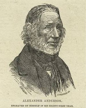 Alexander Anderson (illustrator) - Self-portrait of Alexander Anderson at age 81
