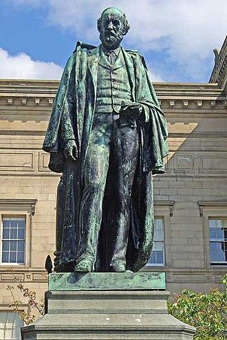 Alexander Balfour - Statue of Alexander Balfour in St John's Gardens Liverpool