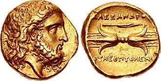 Alexander I of Epirus - Alexander the Molossian, King of Epirus, 343/2–330 BC.