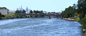 Alexandra Canal (New South Wales) - Alexandra Canal, looking upstream towards the Sydney CBD.