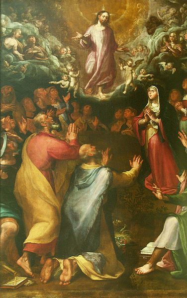Archivo:Alonso de Herrera. Ascensión de Cristo, 1617. Segovia, iglesia de san Andrés.JPG