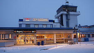 Alta Airport - The old terminal building and tower