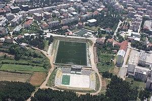 Zeqir Ymeri Stadium - Image: Ambjentet sportive ne Kukes