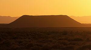 Amboy Crater - Amboy Crater at dusk