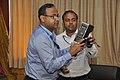 Amitava Akuli And Arun Jana Demonstrate CDAC Handheld Electronics Nose - NCSM - Kolkata 2018-04-23 0285.JPG