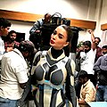 Amy Jackson as female humanoid Robot in 2.0 (film).jpg