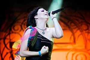 My Immortal - Amy Lee performing during a concert in 2009.