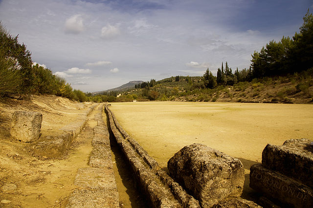 ancient stadium at Nemea - Greek Stadium
