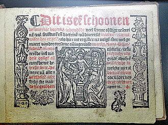 Anna Bijns - Titlepage to Refrains, 1528