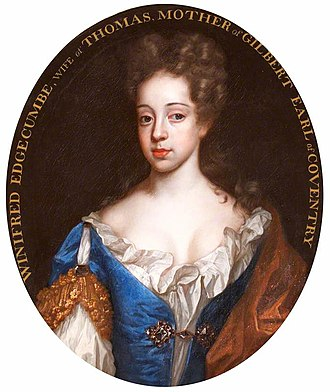 Thomas Coventry, 2nd Earl of Coventry - Thomas Coventry married Anne Somerset (pictured), with whom he had one son. The inscription on this painting is false.