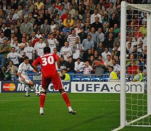 Antes del penalty a Cristiano Ronaldo