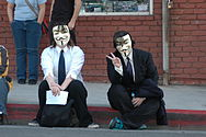 Anti-Scientology protest - Los Angeles - protesters-hv3.jpg