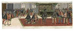Anton Boys - A knighting from the Ordentliche Beschreibung