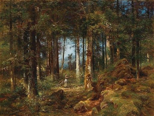 Anton Heinrich Dieffenbach - Tannenwald (1888)