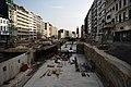 Antwerp's Frankrijklei under construction 2017.jpg