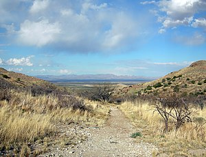 Apache Wars - Apache Pass as viewed from Fort Bowie.