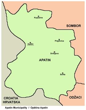 apatin karta srbije Apatin (općina) – Wikipedija apatin karta srbije