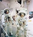 "Apollo 12 Commander Charles ""Pete"" Conrad and Lunar Module Pilot Alan Bean rehearse lunar surface activities.jpg"