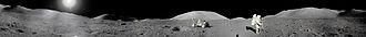 Taurus–Littrow - Image: Apollo 17 Moon Panorama